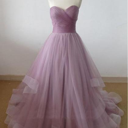 Sweetheart Peated Tulle Formal Occa..
