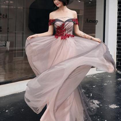 Asian Evening Dress Off the Shoulde..