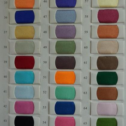 Satin Color Swatches