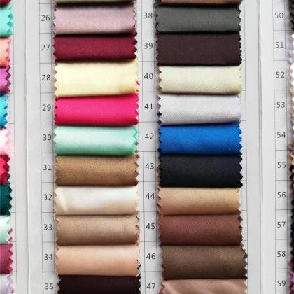 Spandex Satin Color Swatches