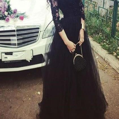 Black Prom Dress Formal Occasion Dr..