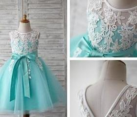 Jewel Neck Tulle/Lac..
