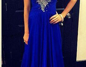 Royal Blue Chiffon E..