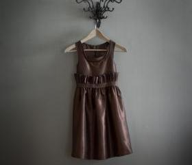 Brown Sleeveless Top..