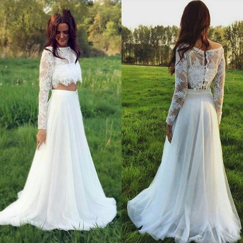 Wedding Dress Bridal Dress 2 Pieces Wedding Dress Boho