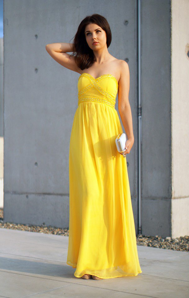 88893fc91be Yellow Max Dress on Luulla