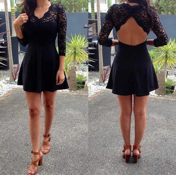 Little Black Dress With 34 Sleeves On Luulla