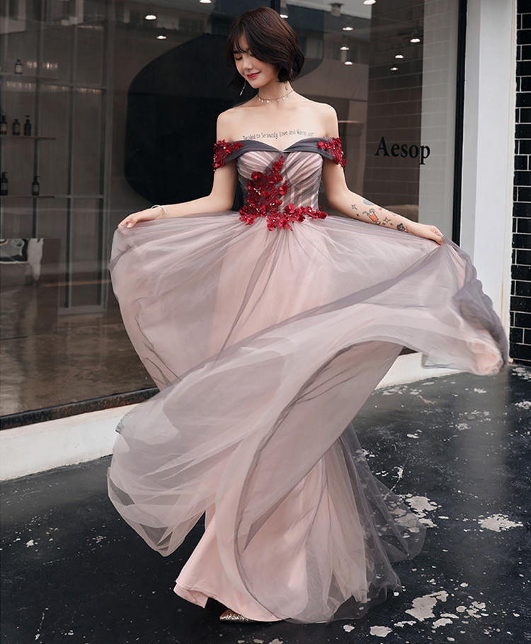 Asian Evening Dress Off the Shoulder Pageant Dress