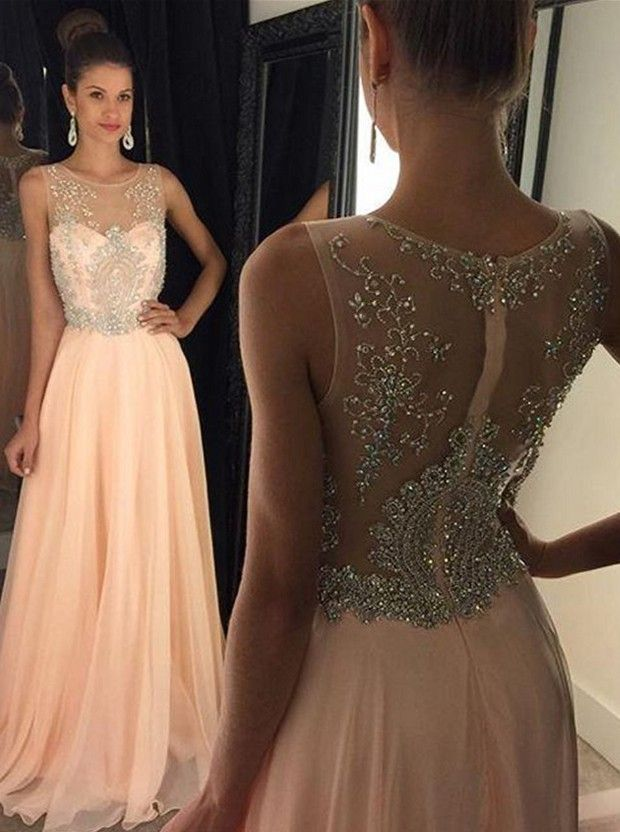 9b4640a982e32 Sheer Back Prom Dress Evening Gown on Luulla