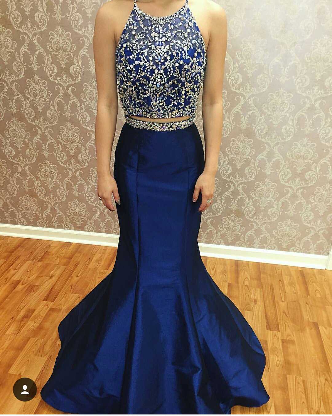 2 Pieces Mermaid Prom Dress