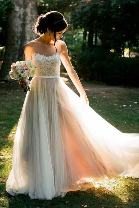 Country wedding dresses and bridal gowns luulla country wedding dress beach wedding dress summer wedding dress ivory wedding dress junglespirit