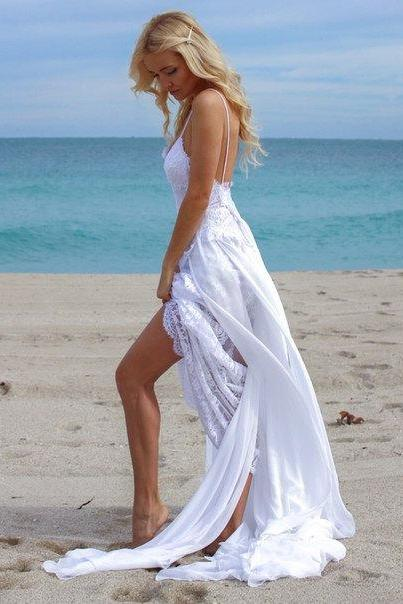 Beach Wedding Dress, Summer Wedding Dress