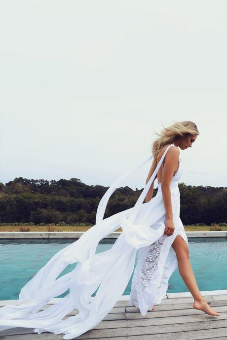 Summer Wedding Dress, Beach Wedding Dress, Boho Wedding Dress, Modern Wedding Dress