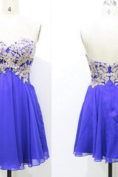 Homecoming Dress with Appliques