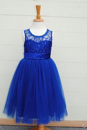 Royal Blue Girl Dress