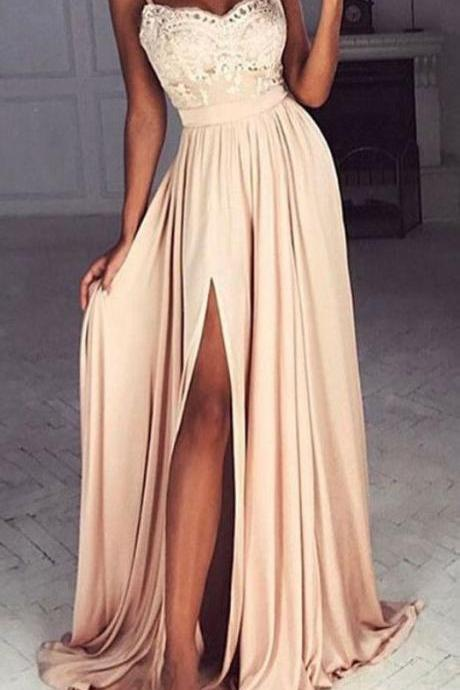 Prom Dress with Side Slit