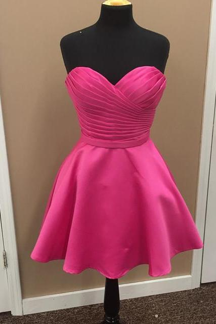 Short Semi-formal Occasion Dress with Pleated Bodice