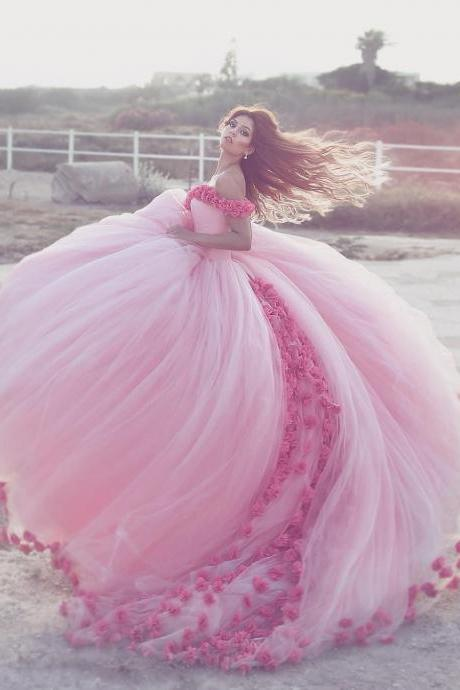 Sweetheart Neckline Off the Shoulder Ball Gown Quinceanera Dress with Flowers