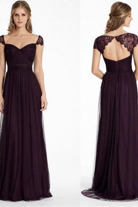 Elegant Chiffon Evening Dress with Lace Wrap