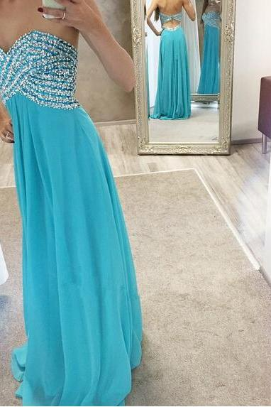 Sleeveless Long Chiffon Prom Dress with Keyhole Back