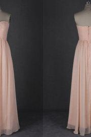 Long Chiffon Bridesmaid Dress, Simple Evening Dress