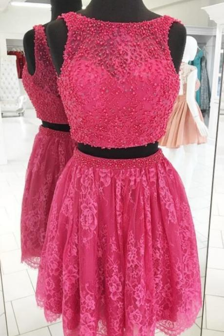 Short Two Pieces Homecoming Dress