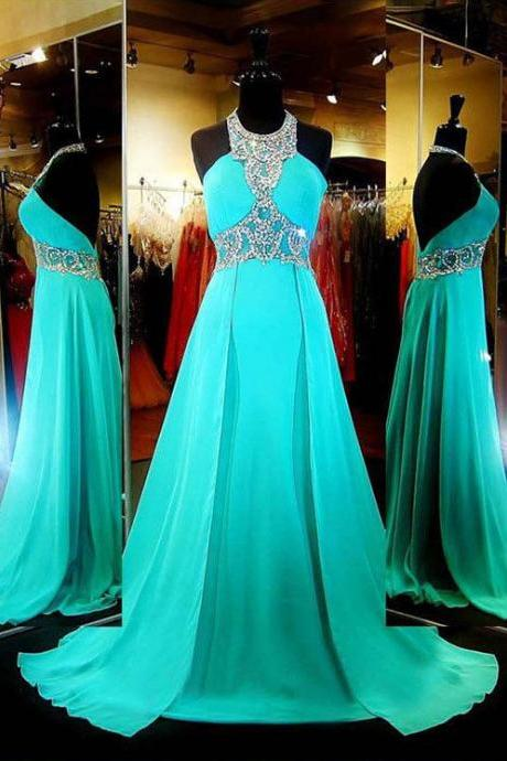Halter Long Prom Dress