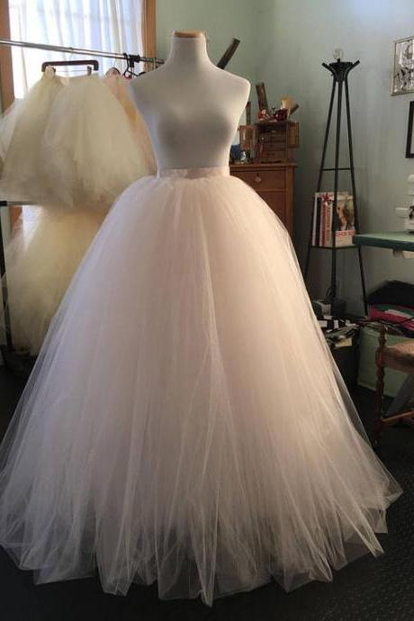 Ivory Ball Gown Tutu Skirt