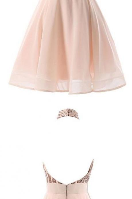 Halter Short Homecoming Party Dress
