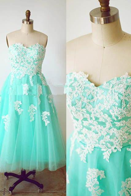 Sleeveless Tea Length Semi Formal Dress Homecoming Party Dress