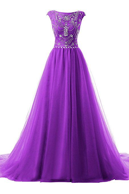 Cap Sleeves Long Evening Gown Pageant Dress