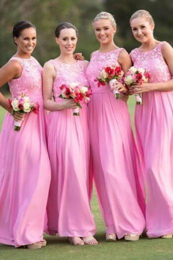 Floor Length Long Bridesmaid Dress