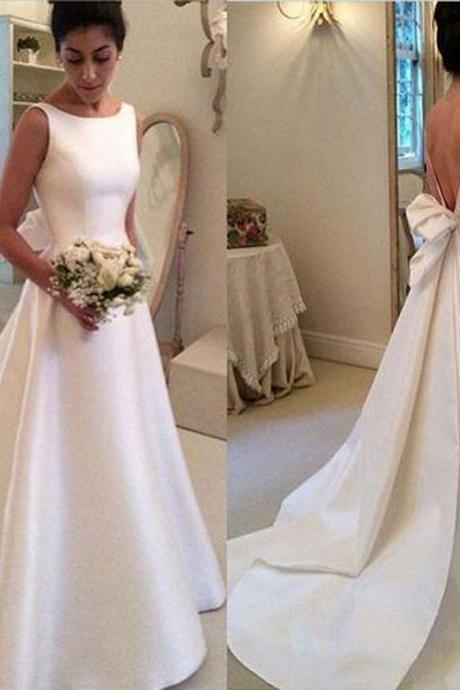 Simple Satin Wedding Dress