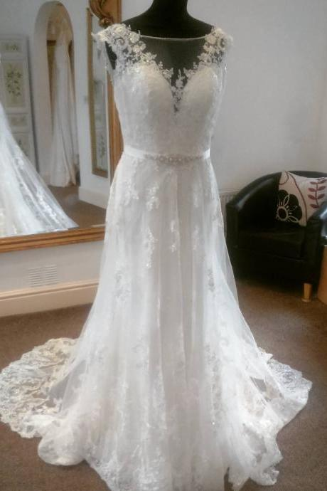 Spring Wedding Dress with Removable Sash