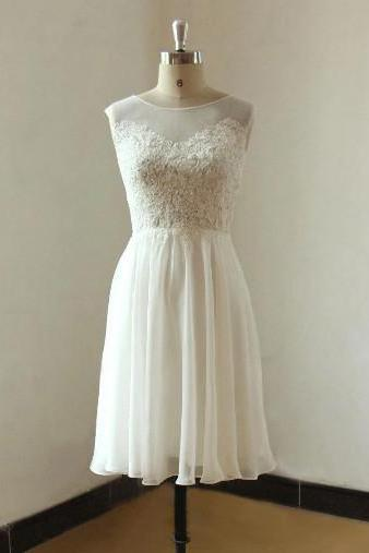 Vintage Short Wedding Dress Summer