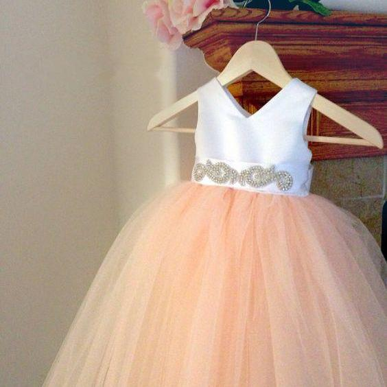 Ball Gown Flower Girl Dress with Back Bow