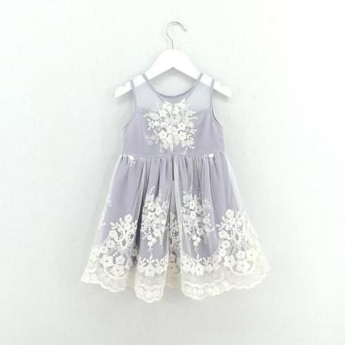 Lavender Flower Girl Dress with Lace