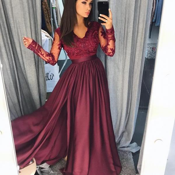 Prom Dress Long Sleeves Formal Occasion Dress