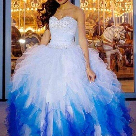 Multi Color Quinceanera Dress