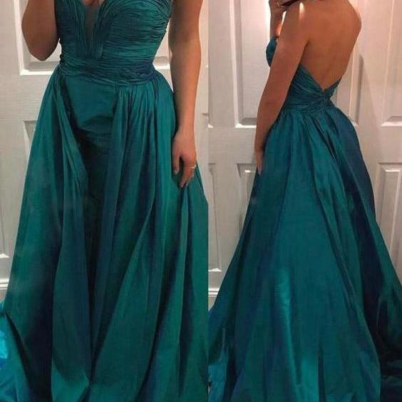 Sweetheart Teal Green Pageant Dress