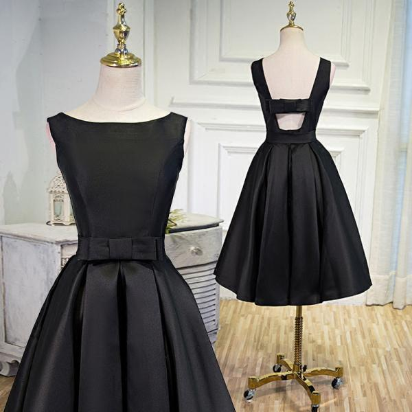 Black Homecoming Dress with Bow