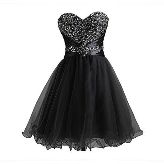 Sweetheart Little Black Dress Homecoming Hoco Party Dresses
