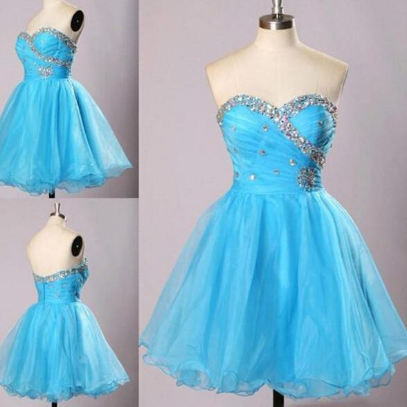 Sweetheart Ice Blue Hoco Party Dresses Homecoming