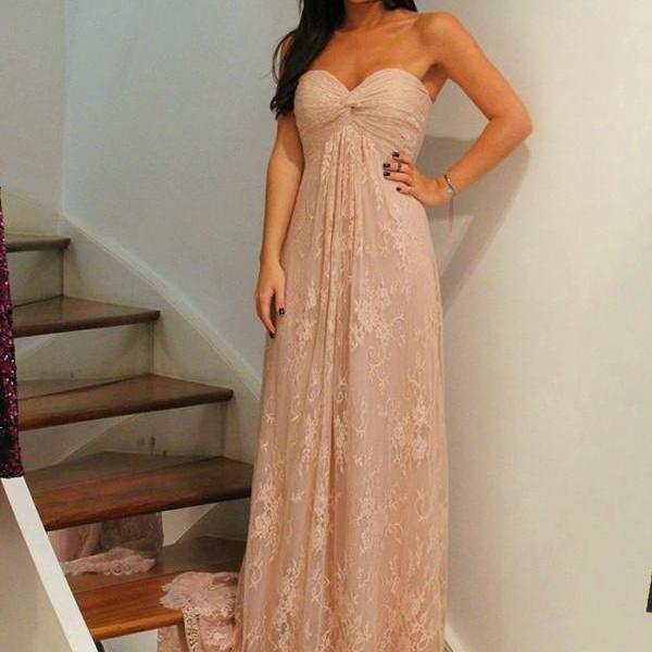 Empire Sweetheart Ruched Bodice Floor Length Long Lace Occasion Dress Evening Dress Prom Dress